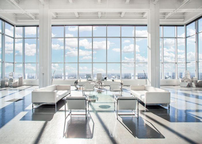 skystudio, modern blue sky penthouse loft with views of los angeles.